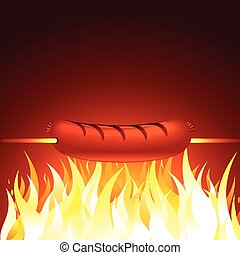 Grilled Sausage Vector
