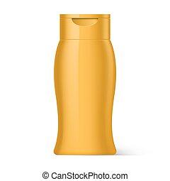 Plastic Bottle Shampoo Packaging - Yellow Plastic Bottle...