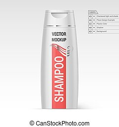 Plastic Bottle Shampoo - White Bottle Shampoo Isolated at...