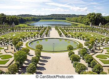 The orangery, castle of Versailles in summer (Versailles...