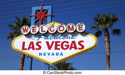 Video of welcome to fabulous Las Vegas Sign in 4K - High...