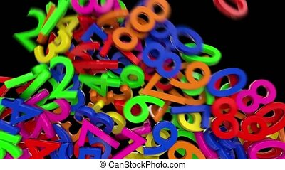 Numbers digits numerals fill screen math calculus school...