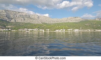 Tucepi sea shore - Tucepi view from the boat towards the...