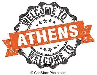 Athens round ribbon seal