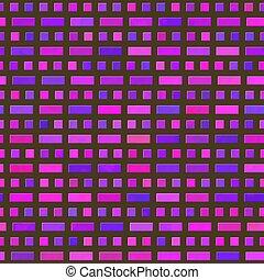 Cor-de-rosa, roxo, Padrão,  seamless, pretas, fundo, quadrados, Retângulos