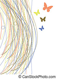 Abstract background with butterfly.