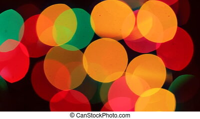 Defocused ligths of Abstract Christmas background tree