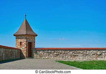Lookout Tower of Castle - Lookout Tower of an Old Castle in...