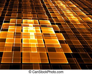 Abstract checkered background - digitally generated image -...