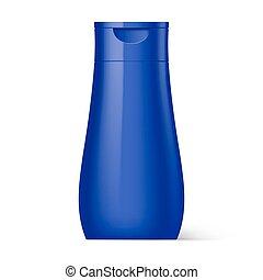 Plastic Bottle Shampoo Packaging - Violet Plastic Bottle...