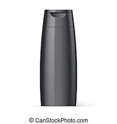 Plastic Bottle Shampoo Packaging - Black Plastic Bottle of...