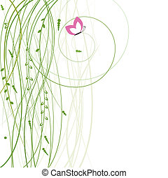 Abstract background with butterfly Vector illustration