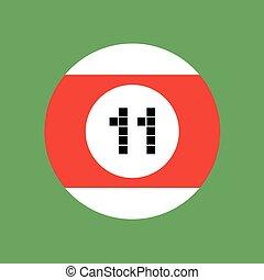 billiards ball number eleven - design of billiards ball...
