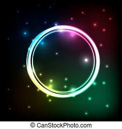 Abstract background with colorful circles plasma
