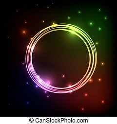 Abstract plasma background with colorful circles