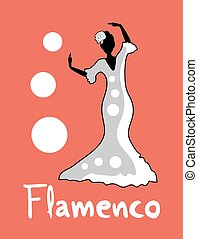 flamenco girl design - creative design of girl illustration