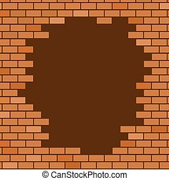hole in brick wall - design of hole in brick wall