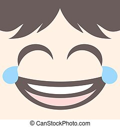 joking face design - design of funny joking face