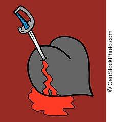murder heart - creative design of murder heart