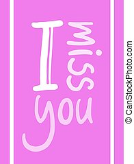 pink I miss you icon - design of pink I miss you icon
