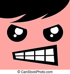 rebel face design - creative design of rebel face