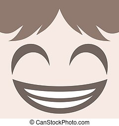 smiling face design - creative design of smiling face design