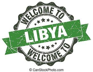 Libya round ribbon seal
