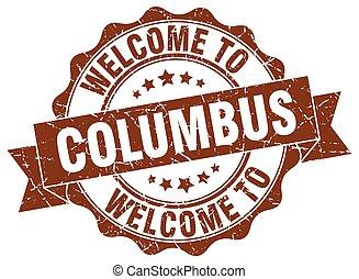 Columbus round ribbon seal