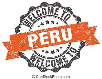 Peru round ribbon seal