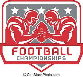 American Football Championship Crest Retro