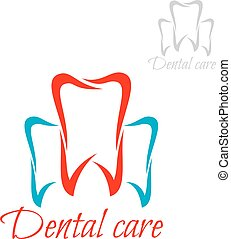 Dentistry, tooth dental care vector dentist icon - Dentistry...