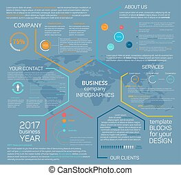 Business company vector infographics chart diagram - Company...