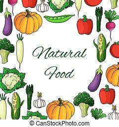 Vegetables poster natural vegetarian food veggies - Veggies...