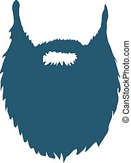 Beard isolated on white background Vector illustration
