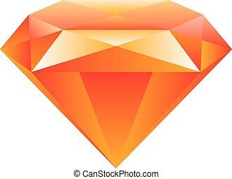 Gemstone isolated on white background Vector illustration