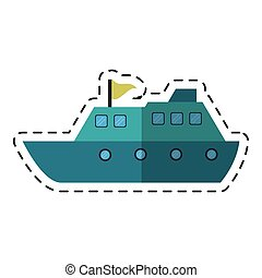yacht luxury travel destination cutting line vector...