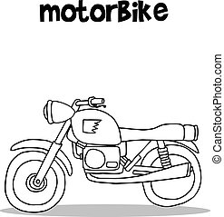 Motorbike vector art illustration collection
