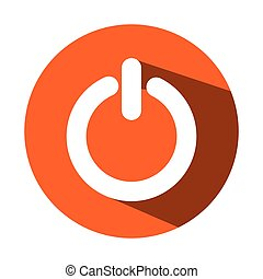 power button isolated icon vector illustration design