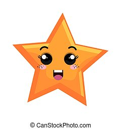 star character space isolated icon vector illustration...