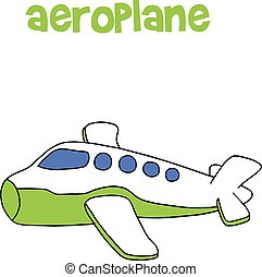 Aeroplane cartoon vector art illustration