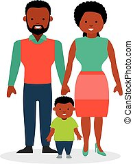 Family with one child, a son. African-American family....