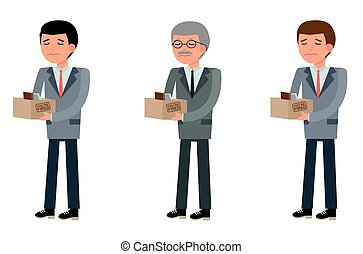 Business people of different ages, they were fired -...