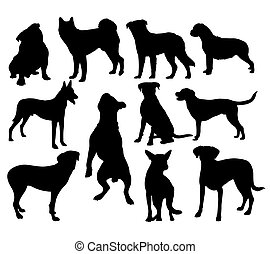 Dog Pet Animal Silhouettes - Pet Animal Silhouettes,...