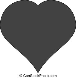 Heart icon in a flat style on white background - Heart Icon...