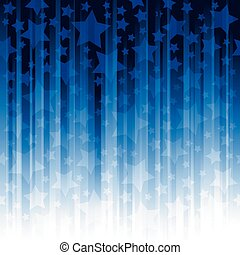 Blue vertical stripes with stars