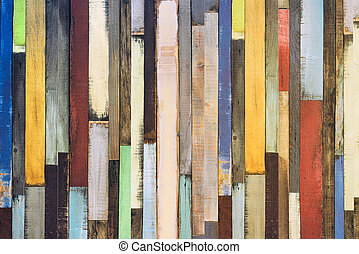 Colorful laminated floor surface