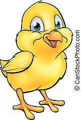 Cartoon Easter Chick - A cartoon Easter chick yellow baby...