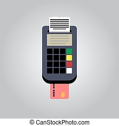 Vector Bank Card Reader - pos terminal, paper receipt and...