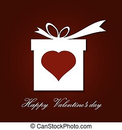Valentine s day concept illustration with gift box