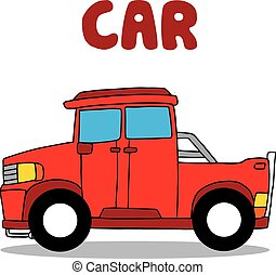 Transportation of red car collection